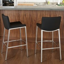 <strong>Home Loft Concept</strong> Mauricio Bar Stool with Cushion (Set of 2)