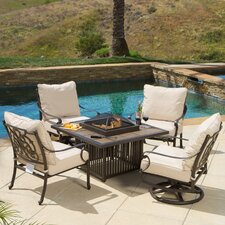 Hemmingway 5 Piece Fire Pit Seating Group