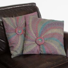 "Harmony 18"" Flannel Starburst Pillows (Set of 2) (Set of 2)"