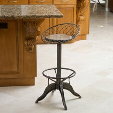 Alonso Weathered Wood Barstool