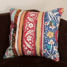 Dumfrey Embroidered Cotton Pillow