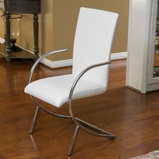 Justin Leather and Chrome Chairs (Set of 2) (Set of 2)