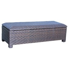Casarano 30 Gallon Wicker Storage Bench