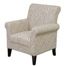 Tatum Zebra Fabric Club Chair