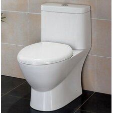 Modern Ceramic 0.8 GPF / 1.6 GPF Elongated 1 Piece Toilet