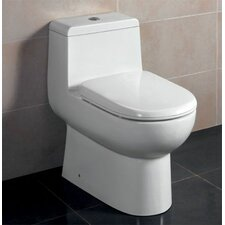 Ceramic Dual Flush Elongated Toilet 1 Piece
