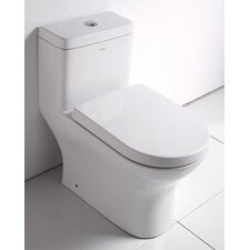 Ceramic Dual Flush Elongated 1 Piece Toilet