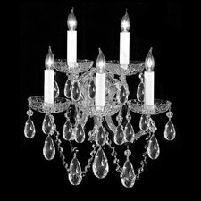 Bohemian Crystal 5 Light Candle Wall Sconce