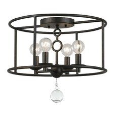 Cameron 4 Light Bronze Semi-Flush