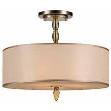 Luxo 3 Light Semi Flush Mount