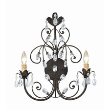 Victoria 2 Light Candle Wall Sconce