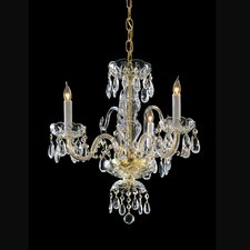 3 Light Chandelier with Swarovski Strass Crystal