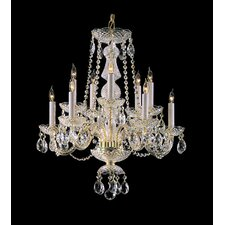 10 Light Chandelier with Swarovski Strass Crystal