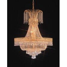 <strong>Crystorama</strong> Empire II Twenty Light Chandelier in 24K Gold Plated