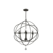 <strong>Crystorama</strong> Solaris 6 Light Foyer Pendant