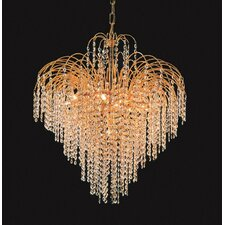 Elegance Shower Twelve Light Chandelier in 24K Gold Plated