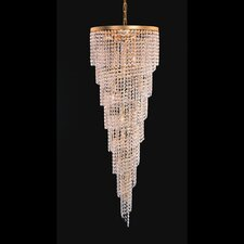 Shower 6 Light Crystal Chandelier