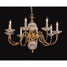 Williamsburg Eight Light Chandelier in Polished Brass
