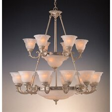 <strong>Crystorama</strong> Oxford Twenty-Four Light Chandelier in Antique Silver