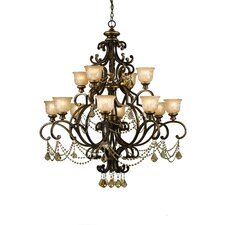 <strong>Crystorama</strong> Norwalk 12 Light Chandelier