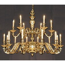 European Classic 12 Light Chandelier