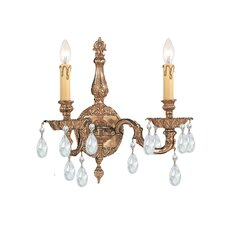 Olde World 2 Light Candle Wall Sconce