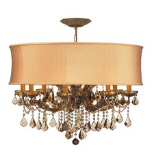 <strong>Crystorama</strong> Brentwood 8 Light Chandelier