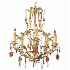 Ritz 5 Light Candle Chandelier