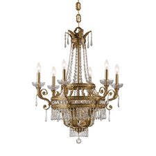 Traditional Classic 9 Light Crystal Candle Chandelier