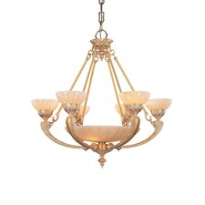 Bravado Alabaster 9 Light Chandelier