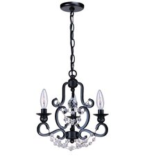 <strong>Crystorama</strong> Orleans 3 Light Mini Chandelier