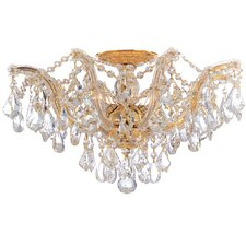 <strong>Crystorama</strong> Maria Theresa 5 Light Swarovski Spectra Semi Flush