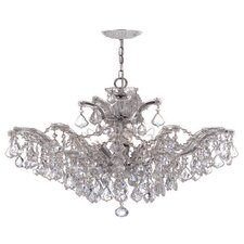 <strong>Crystorama</strong> Maria Theresa Six Light Chandelier in Polished Chrome