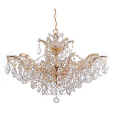 Maria Theresa Six Light Swarovski Elements Chandelier in Polished Gold