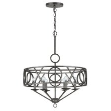 <strong>Crystorama</strong> Odette Six Light Chandelier in English Bronze