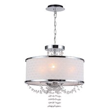 <strong>Crystorama</strong> Allure Three Light Chandelier in Polished Chrome