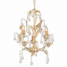 Athena 3 Light Mini Candle Chandelier