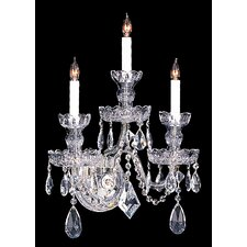 Bohemian Crystal 3 Light Candle Wall Sconce