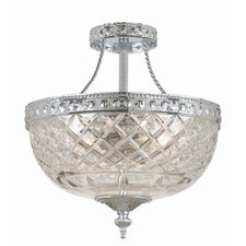 <strong>Crystorama</strong> Richmond 3 Light Semi Flush Mount