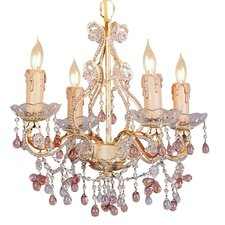 Paris Flea Market  Mini Candle Chandelier in Champagne