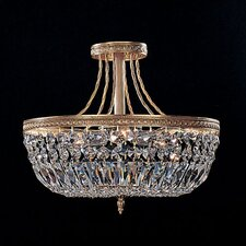 Olde World Lead Crystal Semi Flush Mount