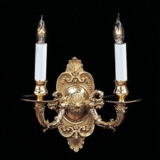 <strong>Crystorama</strong> Traditional 2 Light Candle Wall Sconce