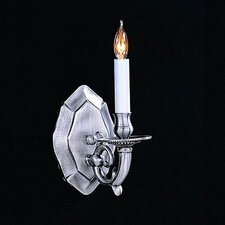 <strong>Crystorama</strong> Historical 1 Light Traditional Candle Wall Sconce
