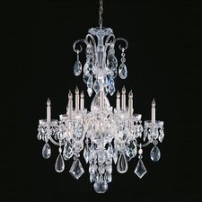 <strong>Crystorama</strong> Bohemian 12 Light Candle Chandelier