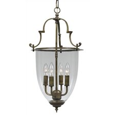 <strong>Crystorama</strong> Bell Jar 4 Light Hanging Foyer Pendant