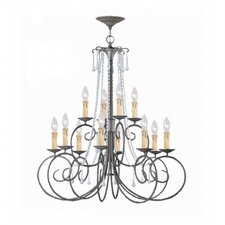 <strong>Crystorama</strong> Soho 12 Light Chandelier