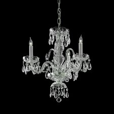 Bohemian 3 Light Crystal Candle Chandelier