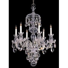 Bohemian 6 Light Candle Chandelier
