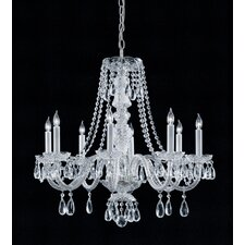 Bohemian Crystal 8 Light Candle Chandelier with Crystal