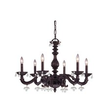 Sutton 6 Light Crystal Candle Chandelier